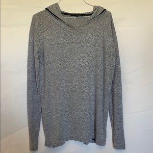 Women's Rag & Bone grey knit hooded shirt sz s